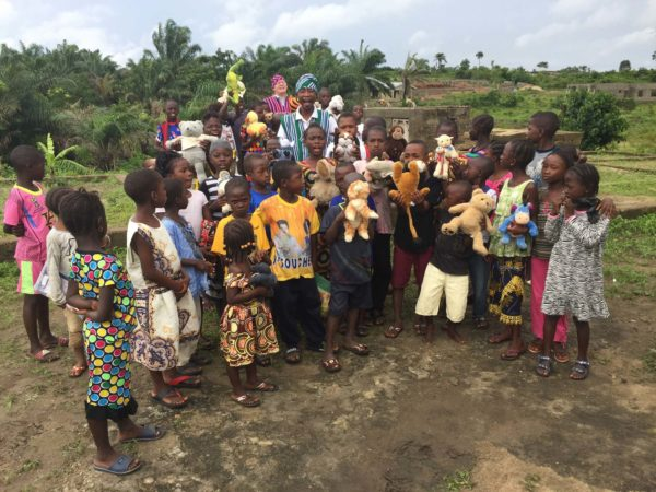 Children-with animal toys in Sierra Leone