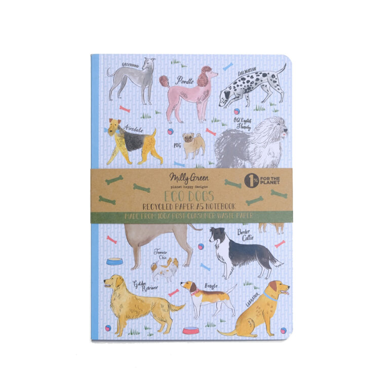 Debonair Dogs notebook front view